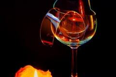 Buntes Weinglas